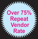 Over 75% Repeat Vendor Rate