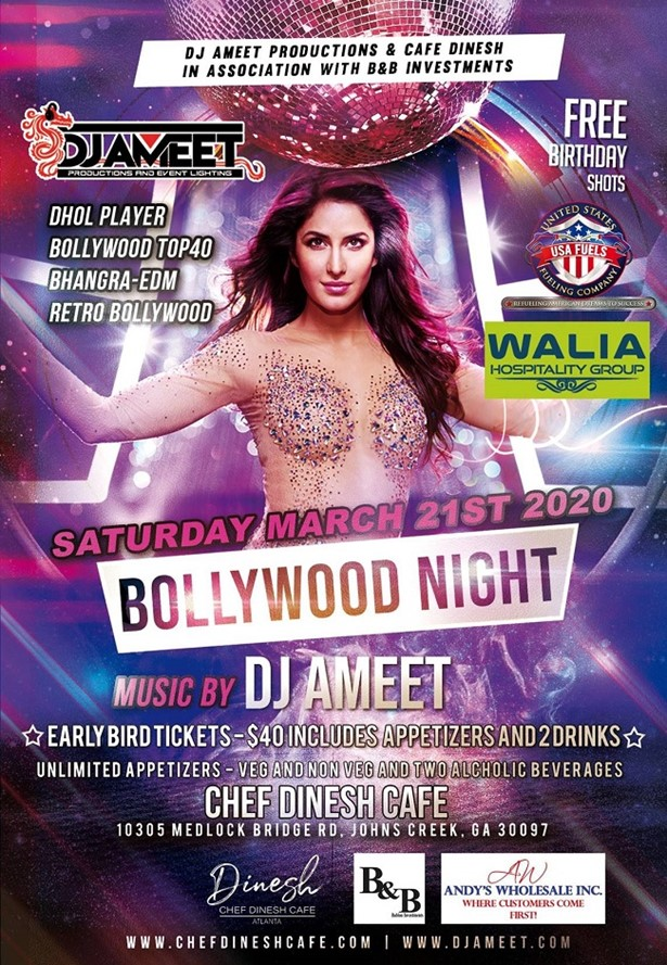 Bollywood Night Music By Dj Ameet in Johns Creek