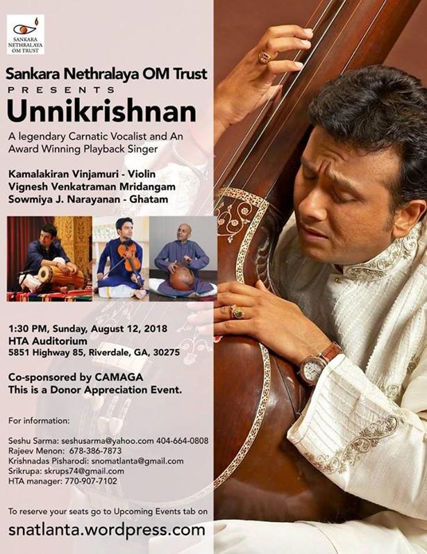 Concert by Unnikrishnan
