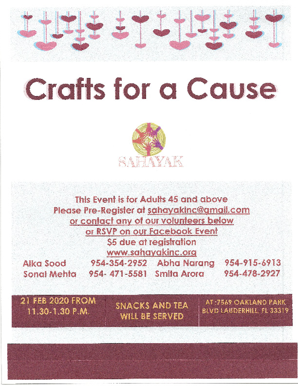 Crafts for a Cause in Lauderhill