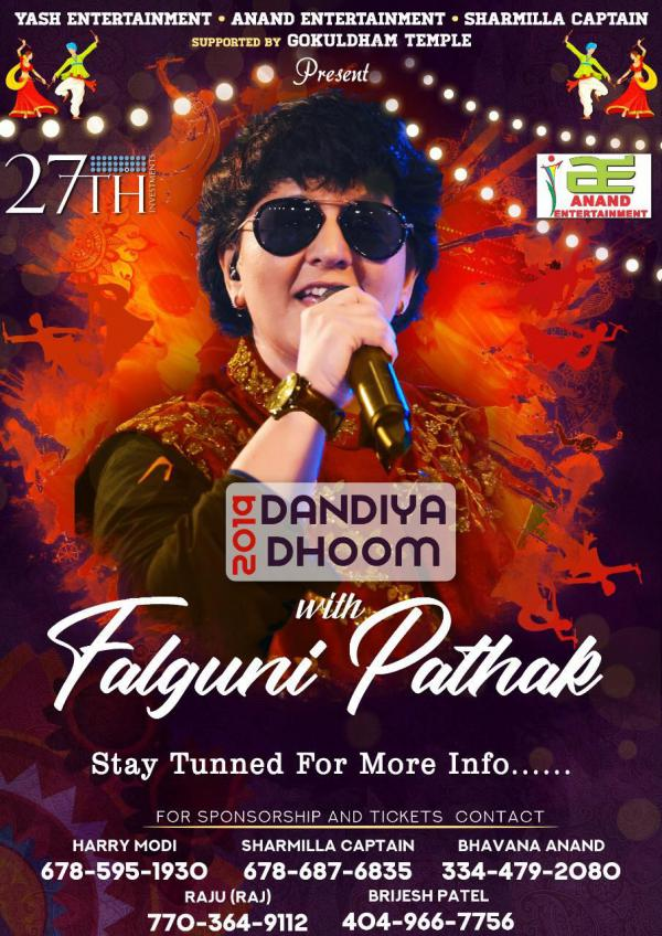 Dandiya Dhoom 2019 with Falguni Pathak in Atlanta