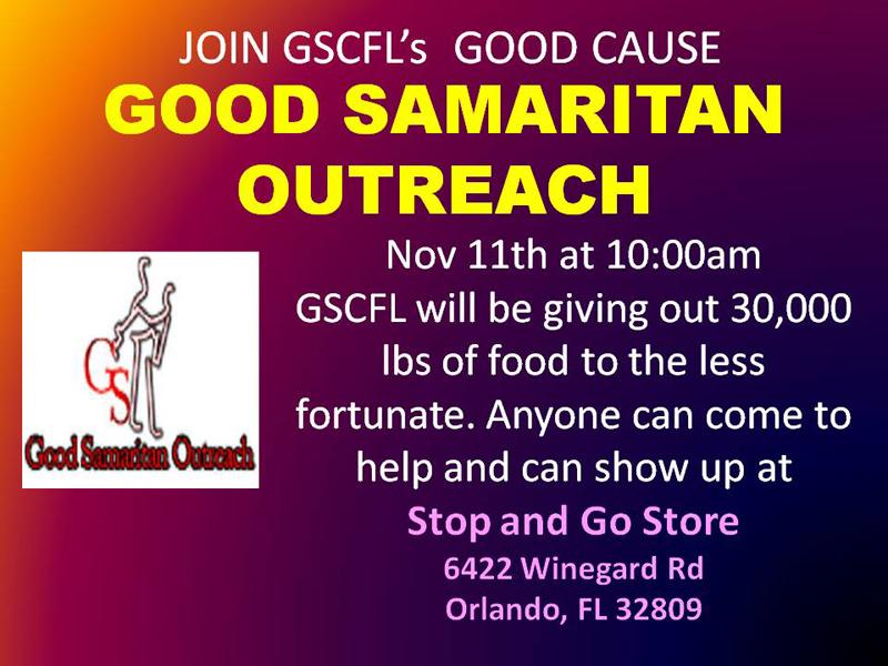 GSCFL Charity Event - Good Samaritan Outreach in Orlando