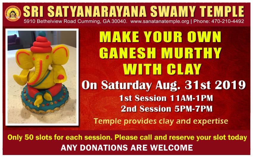 Ganesh Murti Making By Children