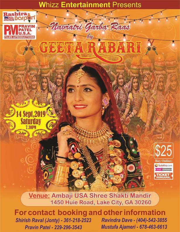 Geeta Rabari Garba Event