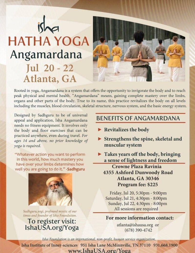 Isha: Hatha Yoga Angamardana