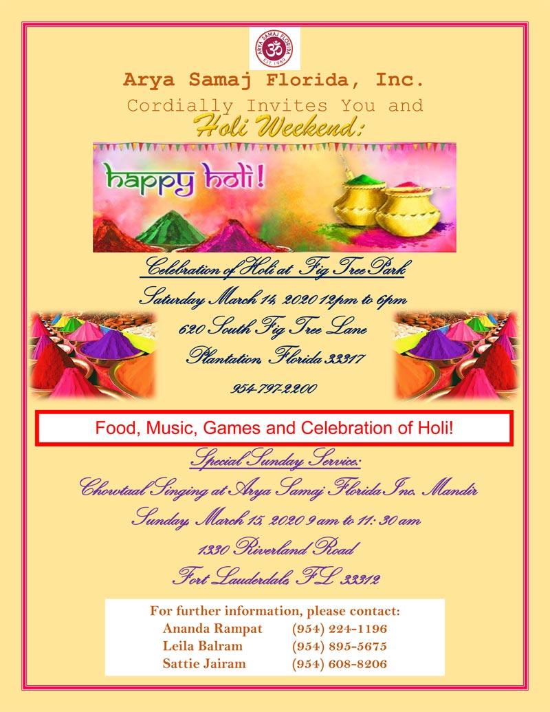 Holi Celebration in Plantation