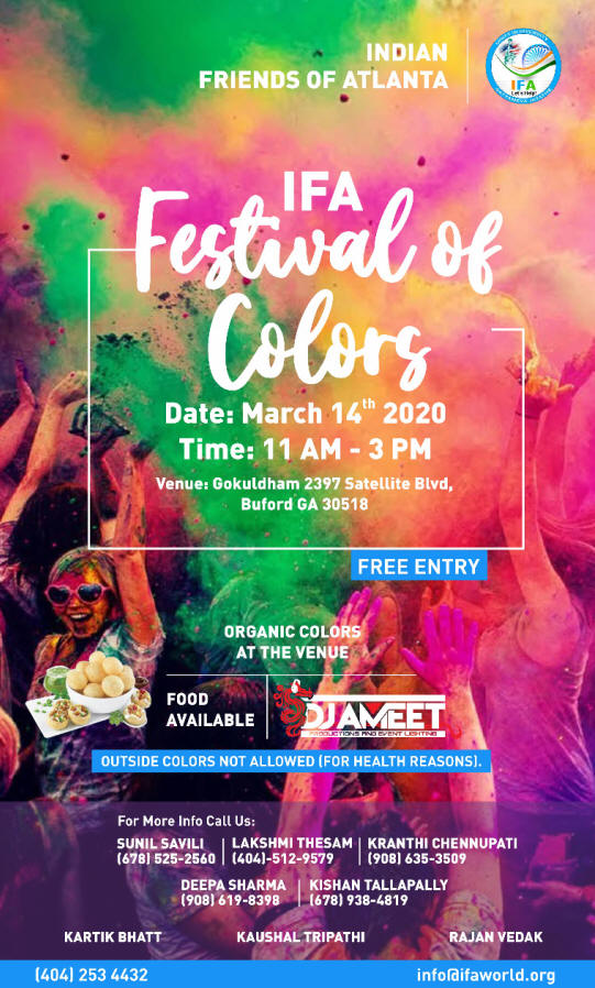 IFA Festival of Colors in Buford