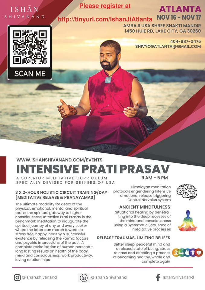 Intensive Prati Prasav in Lake City Hosted by Ambaji USA & Shivyog Georgia Forums