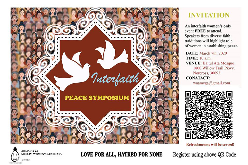 Interfaith Peace Symposium Womens Only Event in Norcross