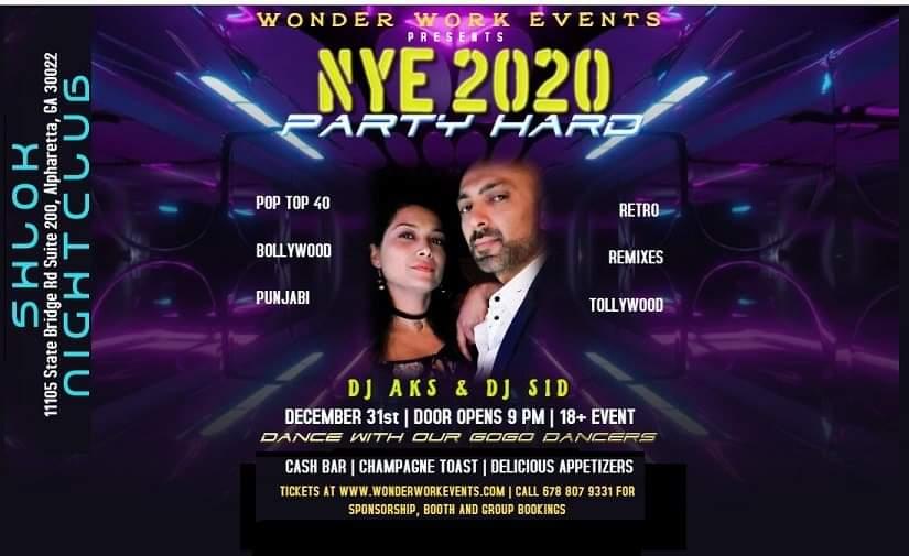 NYE 2020 by Wonder Work Events in Alpharetta