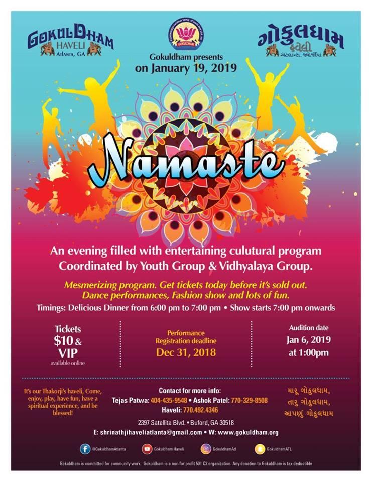 Namaste Cultural Program
