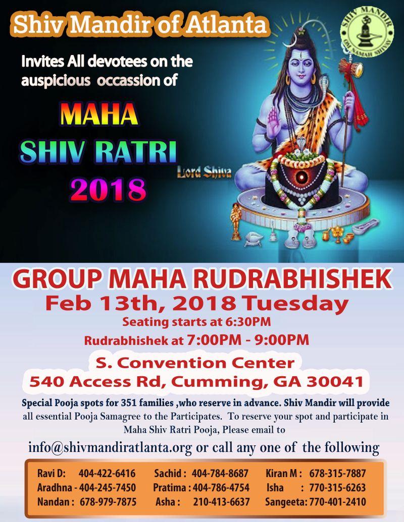 Shiv Mandir Atlanta Maha Shivratri