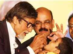 Big B Honored for Polio Work