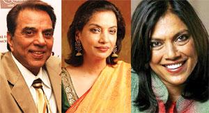 Mario, Dharmendra, Shabana conferred Padma awards
