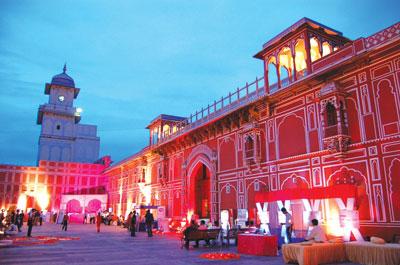Rambaug Palace in Jaipur