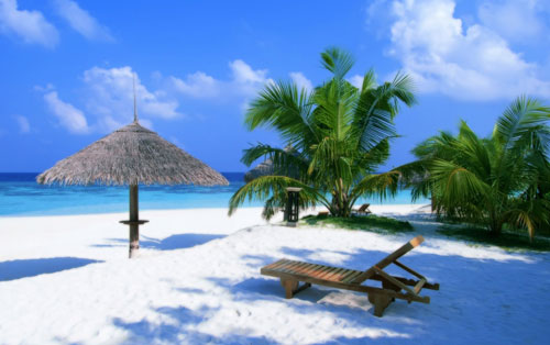 Exotic paradise beach
