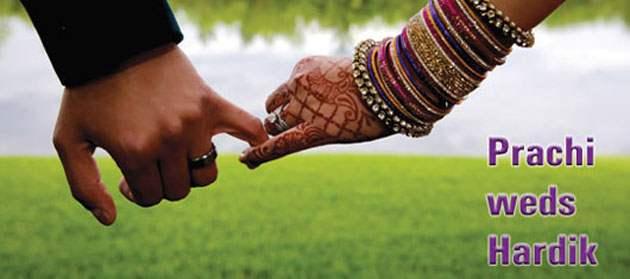 Prachi weds Hardik