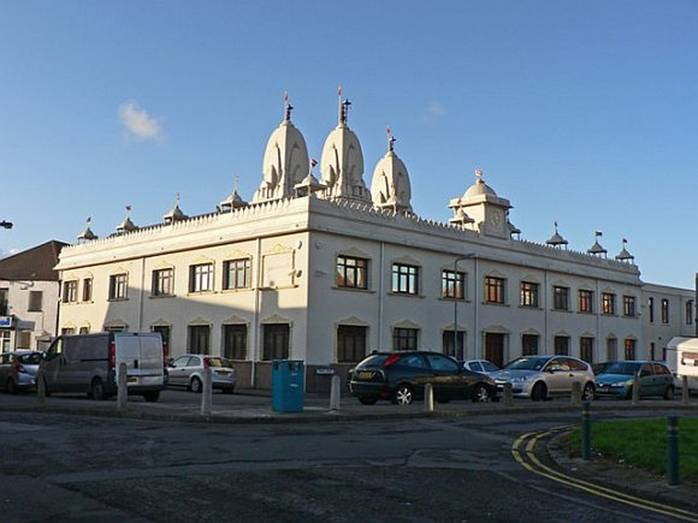 The Swaminarayan Temple in Cardiff, United Kingdom
