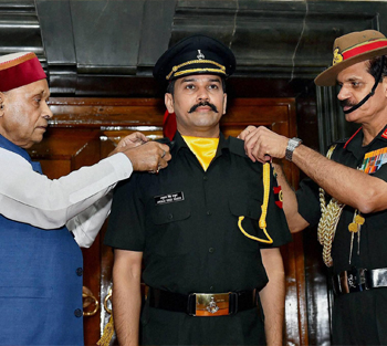 Anurag Thakur, On Being Commissioned into the Territorial Army