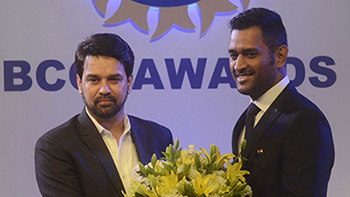 Anurag Thakur, president Board of Control for Cricket in India ( BCCI)