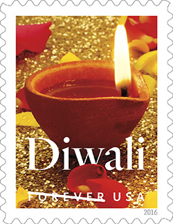 U.S. Postal Service Commemorated Festival of Diwali with a Forever Stamp Today