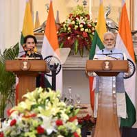India-Myanmar sign three pacts