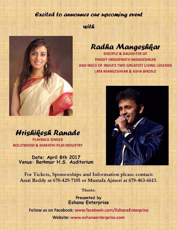 Concert with Radha Mageshkar & Hrishikesh Ranade