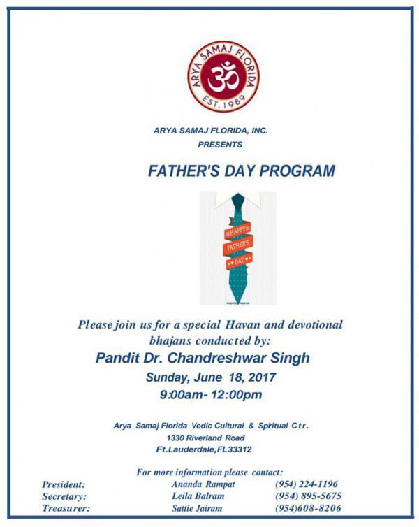 Annual Father's Day Hawan