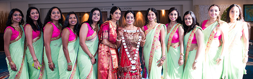 Priya began planning most of the wedding herself