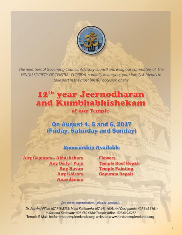 12th Year Jeernodharan Kumbhabhishekam