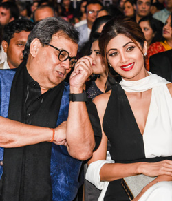 Subhash Ghai and Shilpa Shetty
