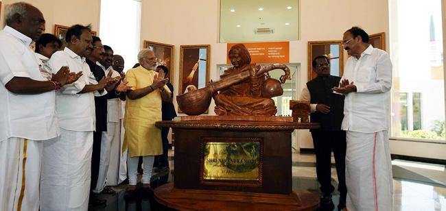 PM Modi inaugurates Dr. APJ Abdul Kalam Memorial at Pei Karumbu in Rameswaram, Tamil Nadu