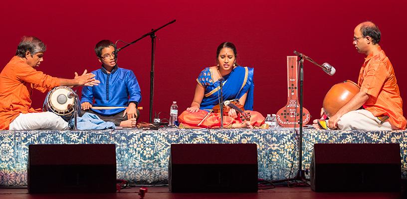 Sanjana Chandran with Dr. Subramanian Ramakrishnan, Dr. Ravi Balasubramanian, Agastya Sridharan