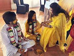 Haldi Ceremony of Riya Sen and Shvam Tiwari