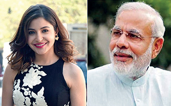 Indian Prime Minister invites Anushka to become part of Swachhata Hi Seva initiative