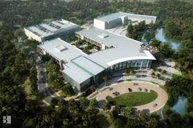 Artist conceptual rendering of the Dr. Kiran C. Patel College of Osteopathic Medicine at NSU's Tampa Bay Regional Campus