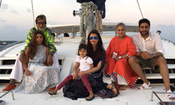 Bachchan family celebrates Big B's 75th Birthday in Maldives