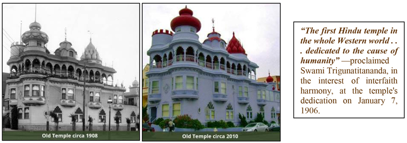 The First Hindu Temple in the whole Western world.... dedicated to the cause of humanity