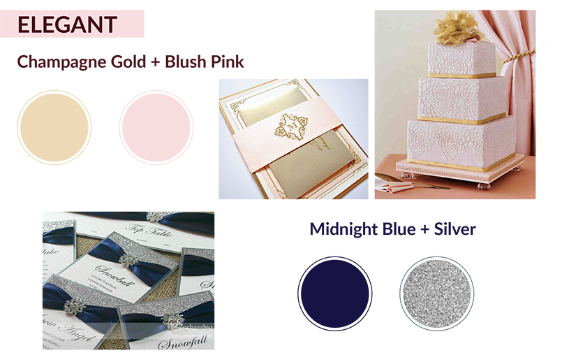 Champagne Gold and Blush Pink