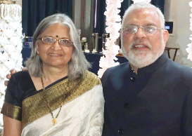 Raj Shah and Aruna Shah