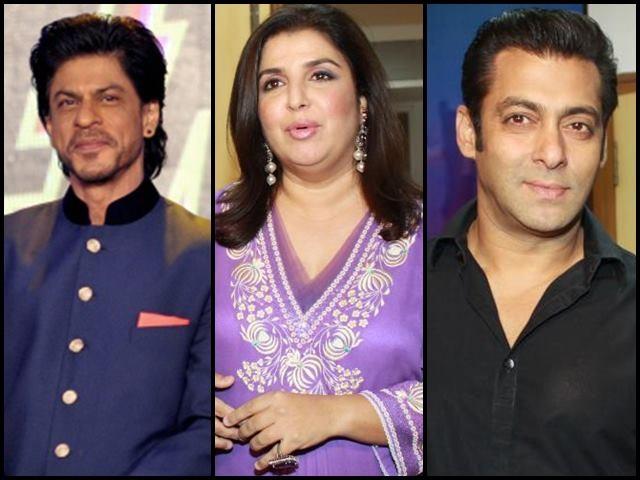 Salman and SRK together on Farah Ki Dawat