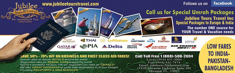 Jubilee Tours & Travel Inc