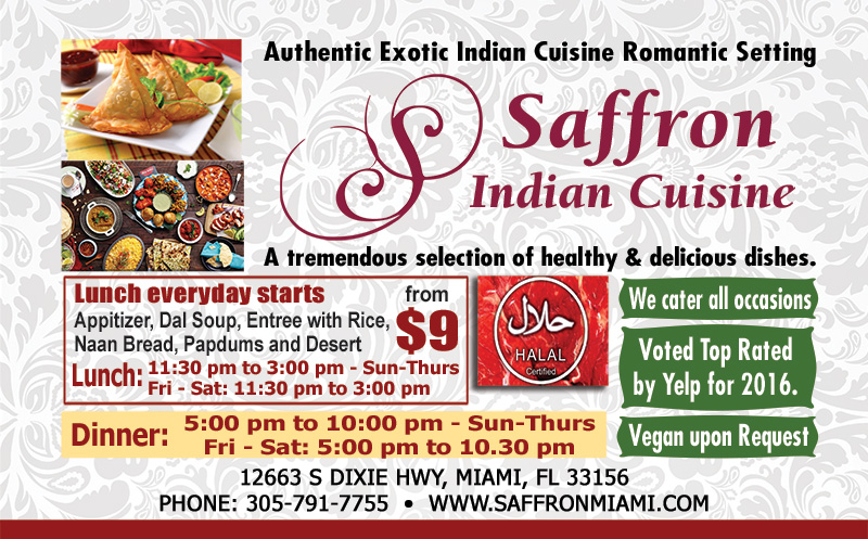 Saffron Indian Cuisine - Miami