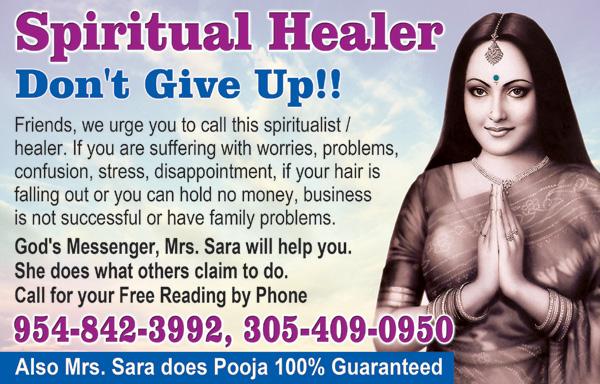SPIRITUAL HEALER SARA