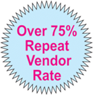 Over 75% Repeat Vendor Rate