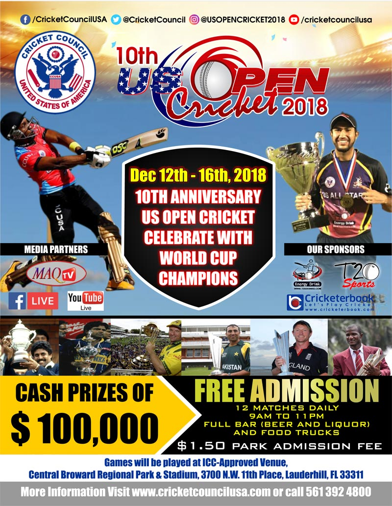 10th US Open Cricket 2018
