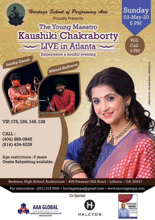 A Soulful Evening with Kaushiki Chakraborty in Lilburn