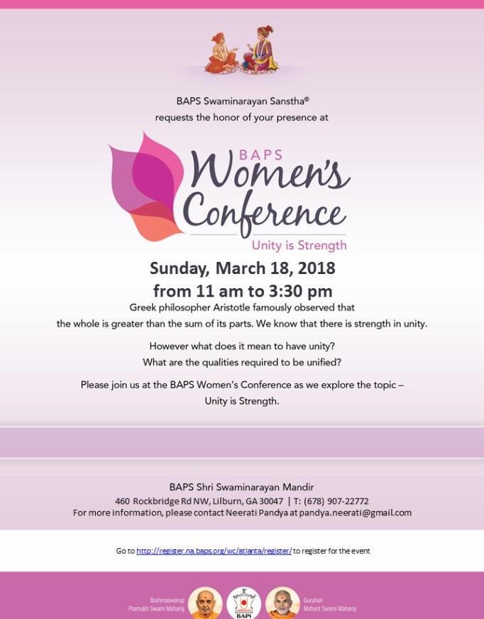 BAPS Women's Conference