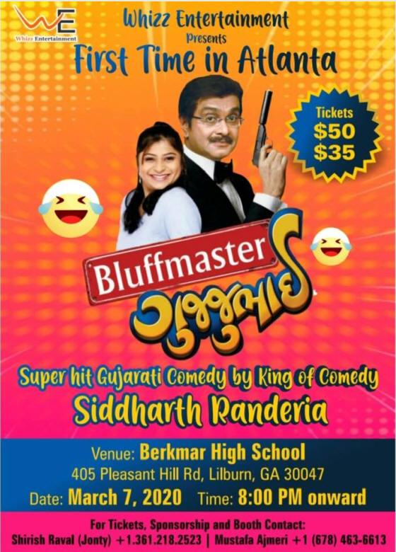 Bluffmaster Super Hit Gujarati Comeday in Lilburn