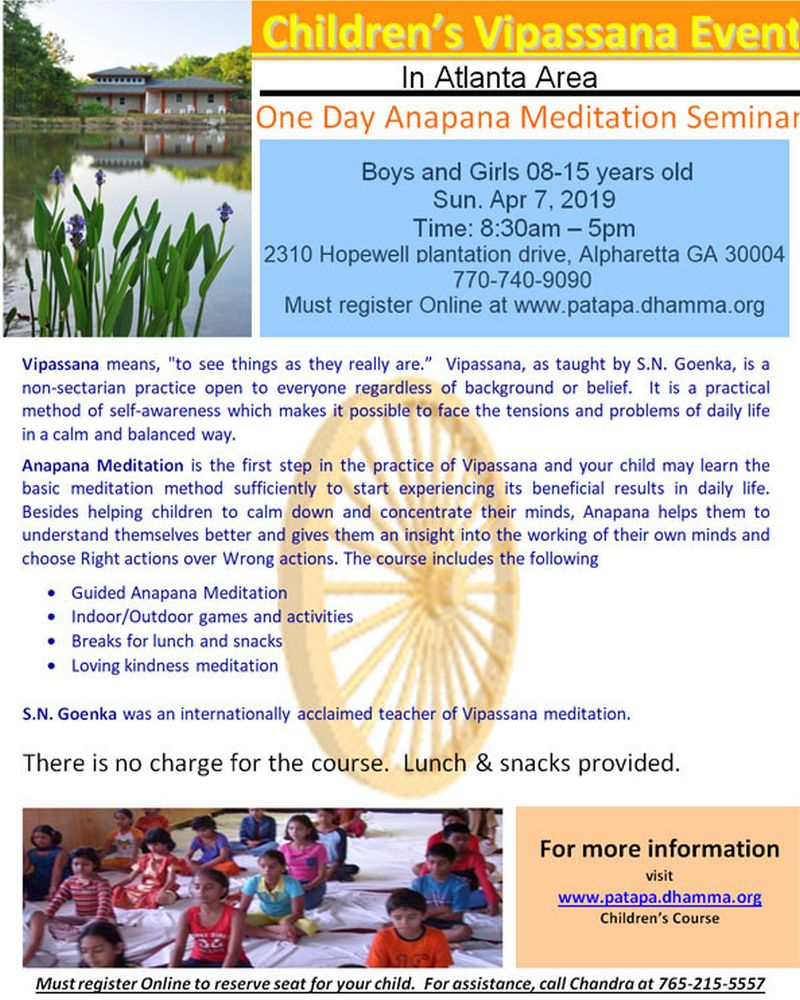 Childrens Anapana Course in Dallas